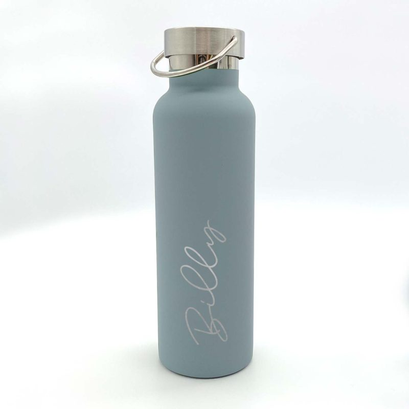 personalised drinking bottle with a name engraving