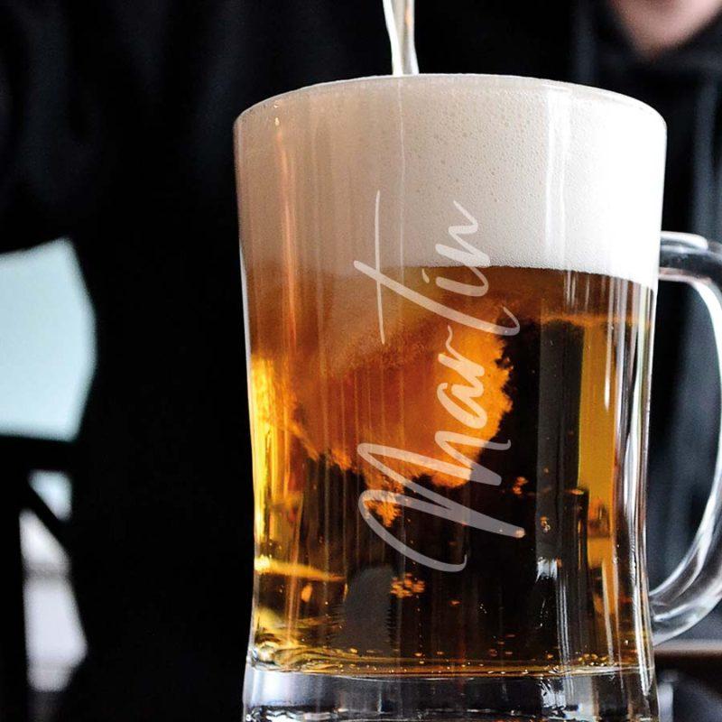 personalised beer mug 500g