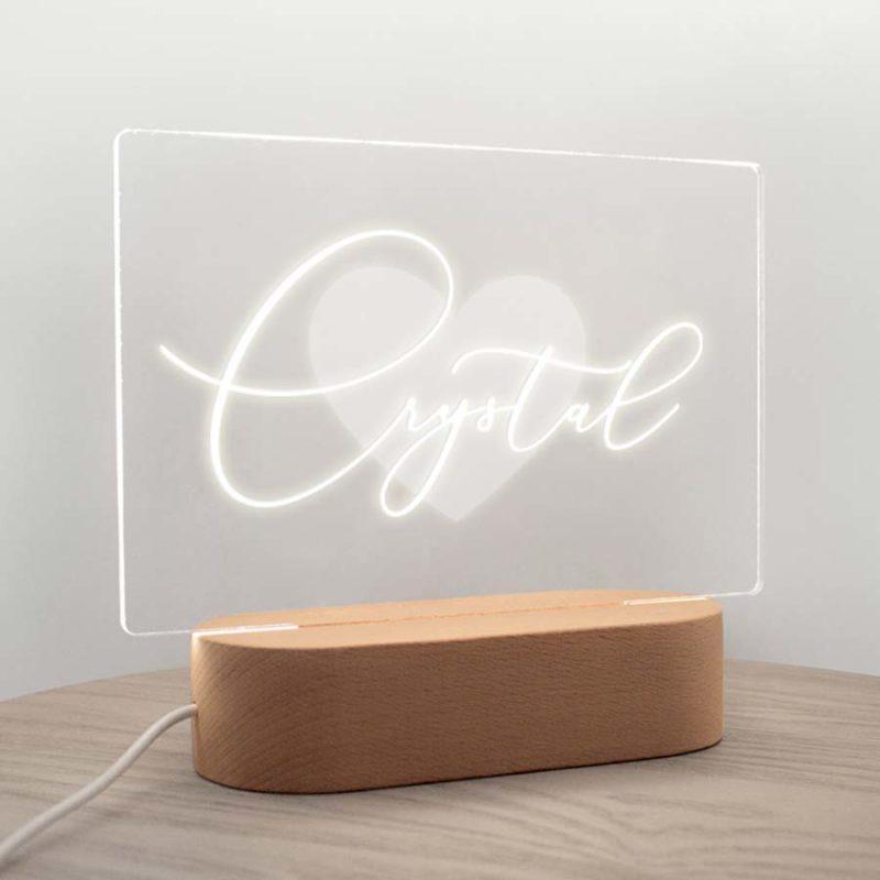 personalised name night light