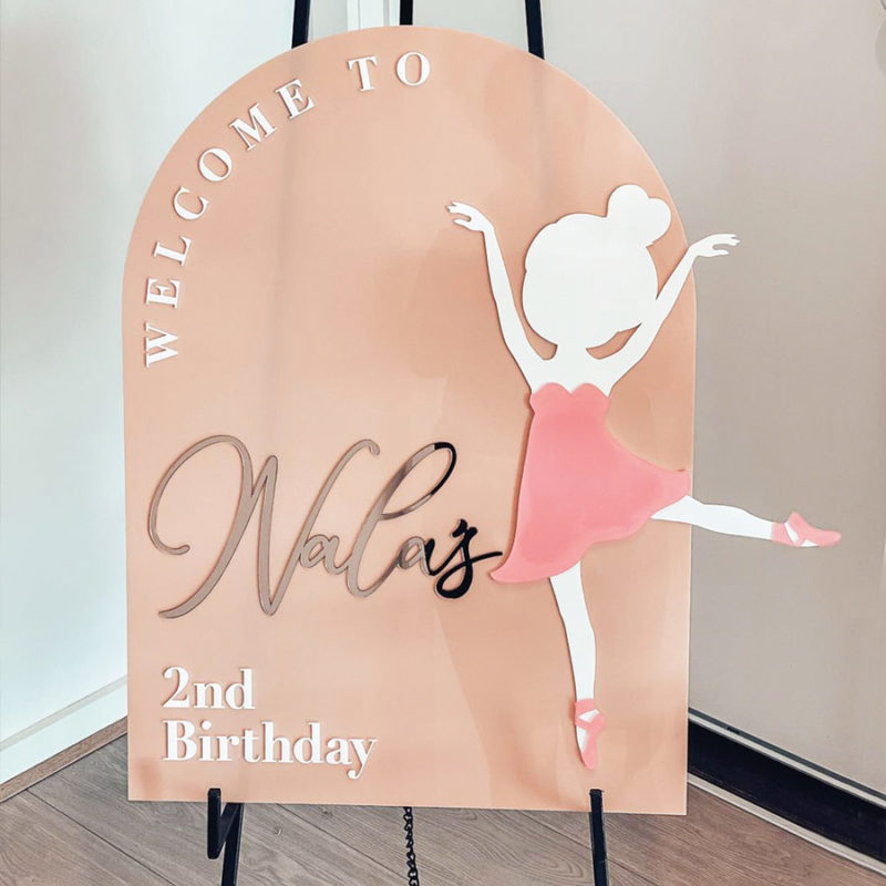 birthday signs ballerina