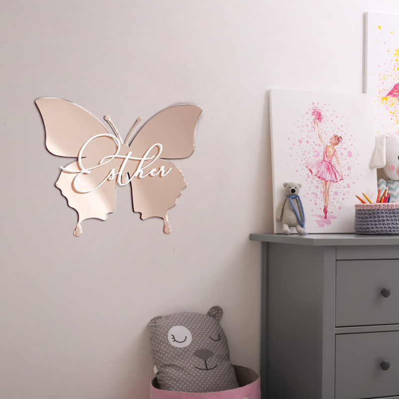 Personalised Butterfly Name Plaque