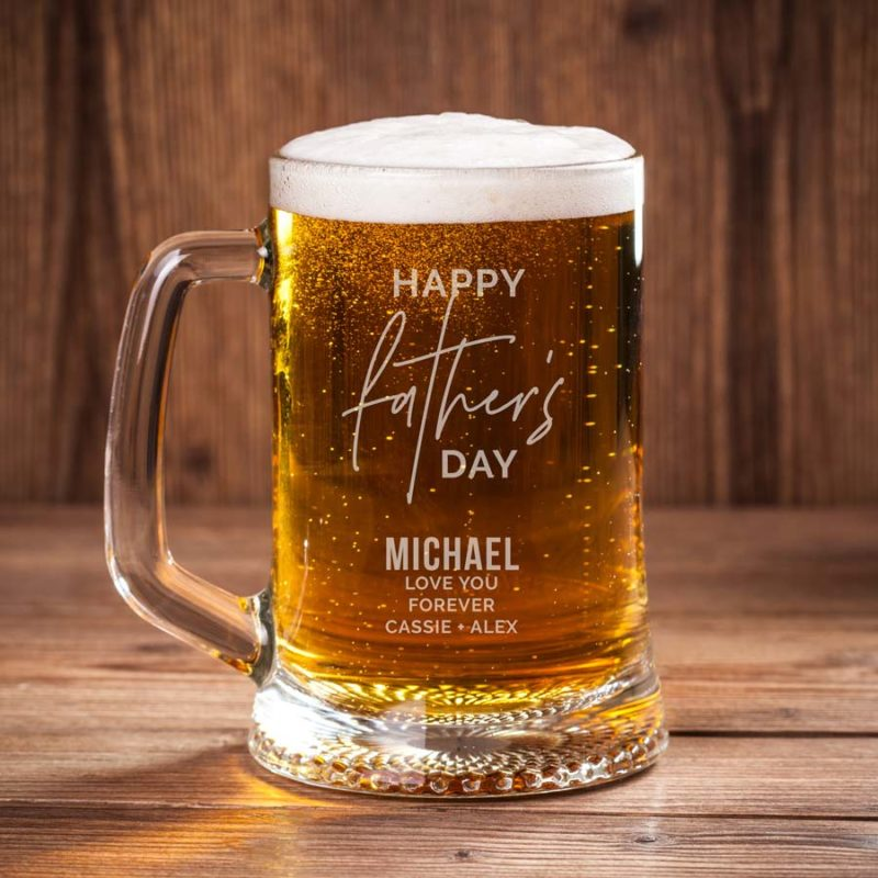 fathers day engraved beer mug